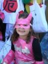 Sophia loved the pink Bat Girl costume!