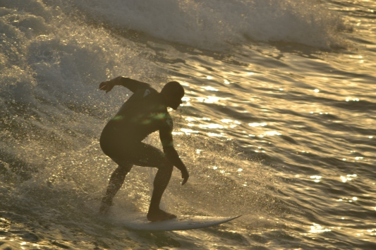 Surfer at Sunset, Huntington Beach