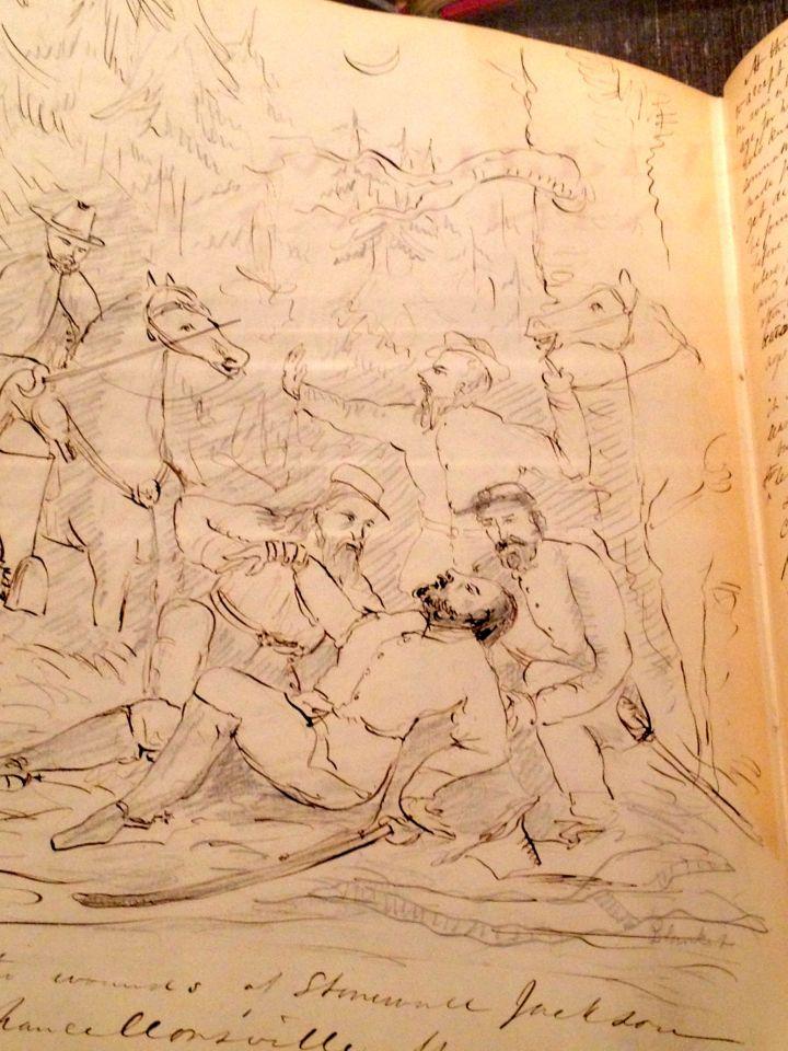 Joseph Warren Revere, wounding of Stonewall Jackson, ca. 1870