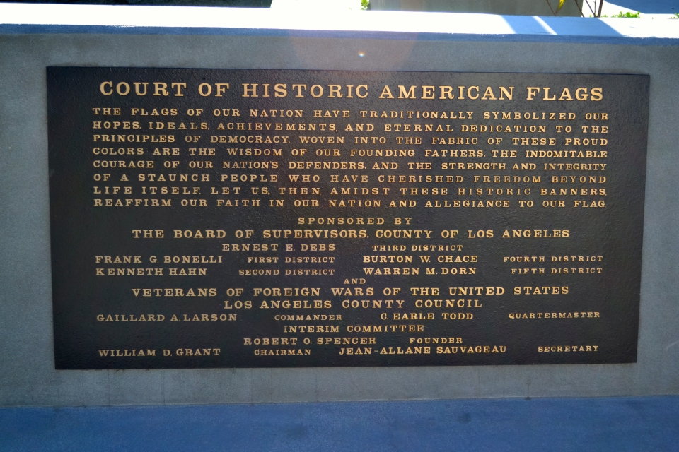 Plaque Court of the American Flags