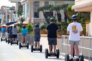 On the boardwalk, Newport Beach