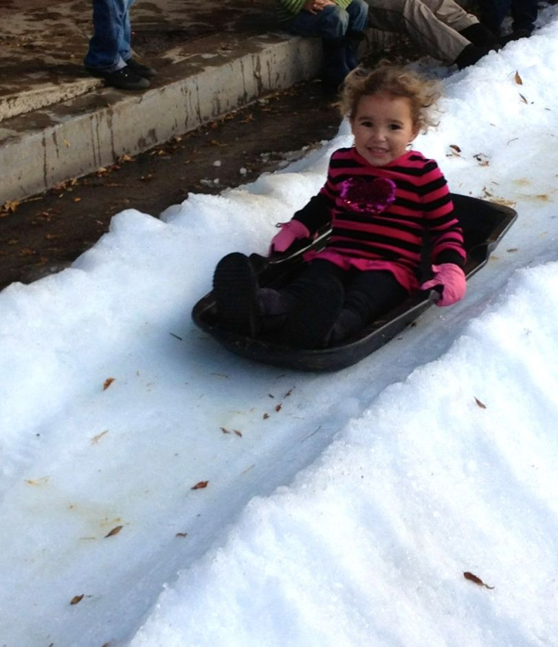 Karina on sled