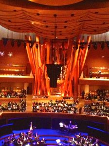 Interior of Disney Concert Hall