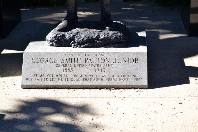 Patton Statue Engraving