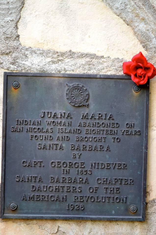 Plaque of Juana Maria