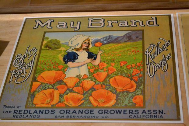 California Poppy label