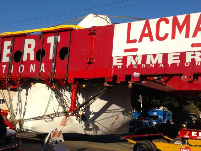Levitated Mass in Transit