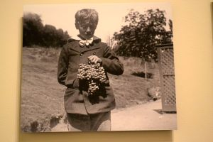 Georgie Patton with family wine grapes.