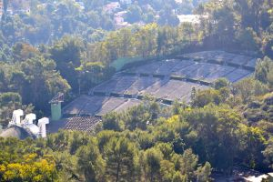 View of Hollywood Bowl from Mulholland Drive