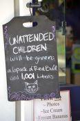 Unattended children warning