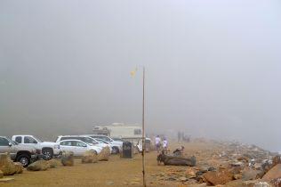 Completely shrouded in fog!
