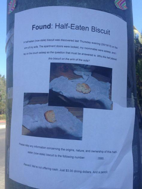 Half-eaten biscuit