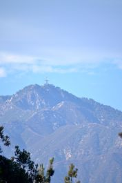 View of the San Gabriels from my front yard