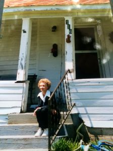 My grandmother in 1998 in front of her birthplace home, Derma, Mississippi
