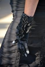 Goth gloves