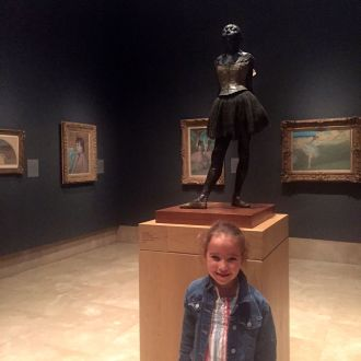 Karina in the Degas Room